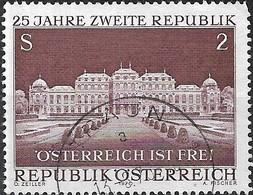 AUSTRIA 1970 25th Anniv Of Austrian Republic - 2s Belvedere Castle FU - 1945-.... 2ème République