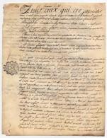 Véritable Parchemin Manuscrit Acte Notarié Notaire 1786 Cachet Généralité D'Orléans Lainé Feuillatre Chaingy 2 Pages - Manuscrits