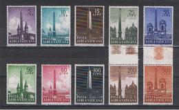 VATICANO:  1959  OBELISCHI  P.A.  -  S. CPL. 10  VAL. N. -  SASS. 35/44 - Poste Aérienne