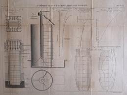 ANNALES PONTS Et CHAUSSEES  - Expériences Sur La Congélation Des Terrains - Macquet - 1887 - (CLF56) - Mappe