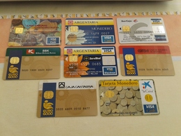 SPAIN - Rare Lot Of 8 Electronic Purse Cards - TOP !!!! - Espagne