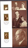 Liechtenstein 1981 80th Ann. Prince Franz Joseph II 3 Maxicards (42413) - Maximumkaarten