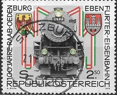 AUSTRIA 1979 Centenary Of Raab (Gyor)Odenburg (Sopron)-Ebenfurt Railway - 2s50 Series 52 Goods Locomotive FU - 1945-.... 2ème République