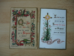 Blanchard Orleans  Lot De 2   Image Pieuse Regieuse Holly Card - Images Religieuses