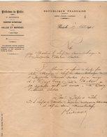 VP14.788 - MILITARIA - PARIS 1905 - Note De La Préfecture De Police Objet Congé Accordé à Mr BOURG Vétérinaire Sanitaire - Police & Gendarmerie