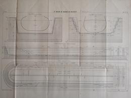 ANNALES DES PONTS Et CHAUSSEES (IDep 83) - Plan Du 3ème Bassin De Radoub De Missiessy - Imp L.Courtier 1899 (CLF59) - Travaux Publics