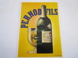 CARTE POSTALE PUBLICITE PERNOD FILS - Advertising