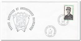 Frans Antarctica 1972, FDC, De Gaulles - FDC