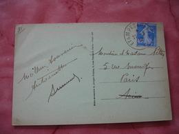 Etampes A Paris Cachet Ambulant Convoyeur Poste Ferroviaire Sur Lettre - Marcophilie (Lettres)