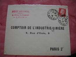 Timbre Pasteur 45 C Rouge Seul Sur Lettre - 1921-1960: Période Moderne
