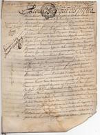 Véritable Parchemin Manuscrit Acte Notarié Notaire Bertrand Marchand Patas 1751 Cachet Généralité D'Orléans 4 Pages - Manuscrits