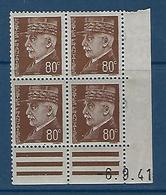 "FR Coins Datés YT 512 "" Pétain 80c. Brun "" Neuf** Du 10.2.42 - 1940-1949"