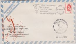 Argentina 1979 Vuelo Commemorativo Buenos Aires - Base Marambio 29 Oct 1979 Cover (42417) - Polar Flights