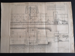 ANNALES PONTS Et CHAUSSEES - Rivetage à Pied-d'oeuvre Par Pression Hydraulique - Gravé Par Macquet 1895 (CLF64) - Travaux Publics