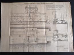 ANNALES PONTS Et CHAUSSEES - Rivetage à Pied-d'oeuvre Par Pression Hydraulique - Gravé Par Macquet 1895 (CLF64) - Public Works