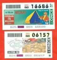 Spain 2002. Two Lottery Tickets. - Billetes De Lotería