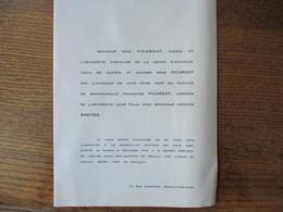 NEUILLY SUR SEINE LE 8 DECEMBRE 1956 MADEMOISELLE FRANCOISE PICARDAT AGREGEE DE L'UNIVERSITE AVEC Mr JACQUES BASTIER - Mariage