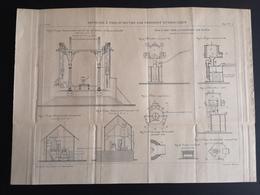 ANNALES PONTS Et CHAUSSEES - Rivetage à Pied-d'oeuvre Par Pression Hydraulique - Gravé Par Macquet 1895 (CLF65) - Travaux Publics