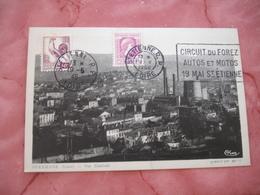 Flamme Flier Saint Etienne Circuit Du Forez Auto Et Moto - Postmark Collection (Covers)