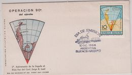 Argentina 1966 Operation Polo Sur / Antarctica / Map 1v FDC (42418) - Argentinië