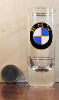 Motos BMW Monogramme Insigne Logo - Ancien Petit Verre à Liqueur (verre à Shot) Sérigraphié Couleur - TBE - Motos