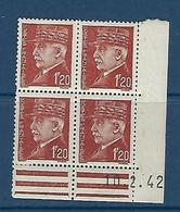"FR Coins Datés  YT 515 "" Pétain 1F20 Brun "" Neuf** Du 10.2.42 - 1940-1949"