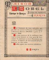 VP14.789 - Document Illustré Double Page  - Maison A. MOREL Fabrique De Bronzes & D'Horlogerie à PARIS Rue De Thorigny - France