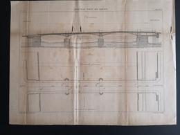 ANNALES PONTS Et CHAUSSEES (Dep 76) - Nouveau Port De Rouen - Gravé Par Macquet 1890 (CLF67) - Public Works