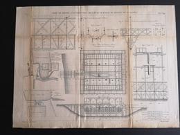ANNALES DES PONTS Et CHAUSSEES (Dep 76) - Plan Du Port De Dieppe - Macquet 1887 (CLF68) - Travaux Publics