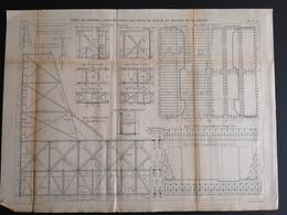 ANNALES DES PONTS Et CHAUSSEES (Dep 76) - Plan Du Port De Dieppe - Macquet 1887 (CLF69) - Public Works