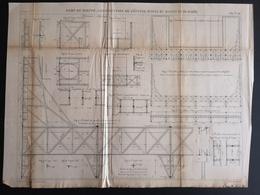 ANNALES DES PONTS Et CHAUSSEES (Dep 76) - Plan Du Port De Dieppe - Macquet 1887 (CLF70) - Public Works