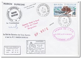 Frans Antarctica 1980, Base Dumont DÚrville - Briefe U. Dokumente