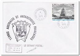 Frans Antarctica 1979, Ship - FDC