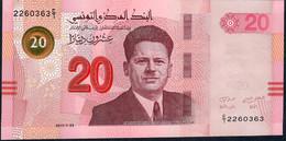 TUNISIA P97 20 DINARS 2017 FIRST PREFIX E/1 !  UNC. - Tunisia