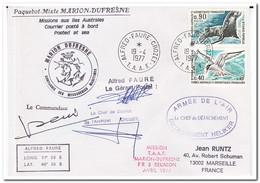 Frans Antarctica 1977, Letter To Marseille - Franse Zuidelijke En Antarctische Gebieden (TAAF)