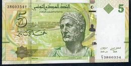 TUNISIA P95 5 DINARS Prefix C/1 ! Signature 10  2013   UNC. - Tunisia