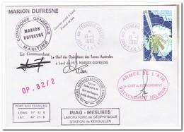 Frans Antarctica 1982, Satellite Arcad III - Franse Zuidelijke En Antarctische Gebieden (TAAF)