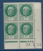 "FR Coins Datés YT 518 "" Pétain 2F00 Vert "" Neuf** Du 23.2.44 - 1940-1949"