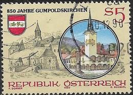 AUSTRIA 1990 850th Anniv Of Gumpoldskirchen - 5s Church And Town Hall FU - 1945-.... 2ème République