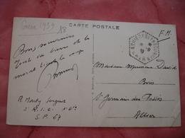 Asnieres Les Bourges Recette Auxiliaire Sur Lettre - Postmark Collection (Covers)