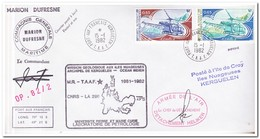 Frans Antarctica 1982, Helicopters - Cartas