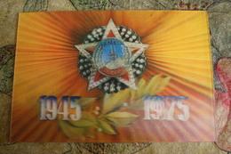 VICTORY DAY - OLD  USSR Postcard 3D Stereo PC 1975 - Cartoline Stereoscopiche