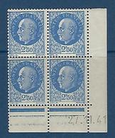 """FR Coins Datés YT 520 """" Pétain 2F50 Bleu """" Neuf** Du 27.11.41 - 1940-1949"""