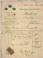 VP14.791 - Facture - Ancienne Maison BAPST & FALIZE Joaillier De La Couronne De France à PARIS Pour Mr De NONNEVILLE - France