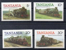 TANZANIE   Timbres Neufs ** De 1985   ( Ref 6388 )   Transport -trains Voir Descriptif - Tanzanie (1964-...)