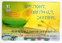 JAPON CARTE PREPAYE BOUTEILLE PERRIER - Alimentation