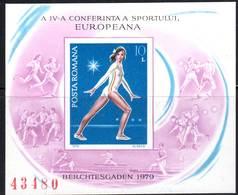 ROUMANIE - BLOC N° 137 A ** NON DENTELE  (1979) Gymnaste - Blocs-feuillets