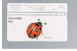 AUSTRIA - TELEKOM AUSTRIA L&G - 1996 LUCKY BEETLE,   MAY   -     USED - RIF. 10278 - Coccinelle