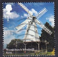 2017 GB -  Wind And Watermills -  Woodchurch Windmill, Kent £1.57 -  Used - 1952-.... (Elizabeth II)