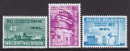 SERIE NEUVE DE BELGIQUE - EURATOM, CENTRE DE MOL N° Y&T 1195 A 1197 - Atome